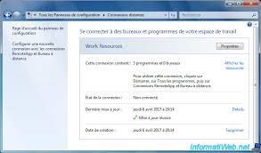 configurer bureau distance windows 7 windows server 2012 tse remoteapp configure windows 7 clients