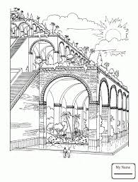 colosseum in the clouds arts culture sightseeing coloring pages