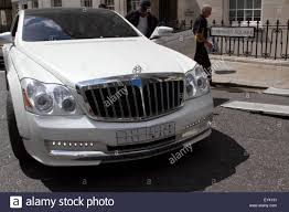 maybach 2015 knightsbridge london uk 21st july 2015 a rare luxury maybach car