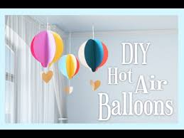 hot air balloon decorations diy paper hot air balloon craft