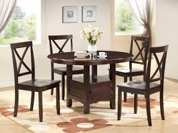 round dining table set 5pc dining room furniture small space wood