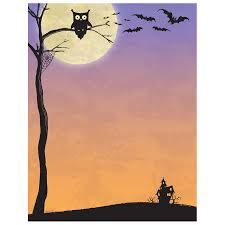 halloween computer halloween who owl bats u0026 haunted house border paper get an