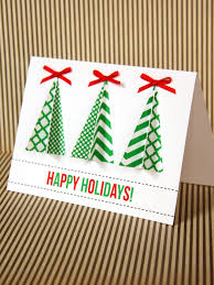 Easy Assemble Christmas Trees Handmade Christmas Tree Card Hgtv