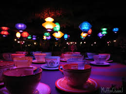 muffinchanel tea cups mad tea party night disneyland christmas
