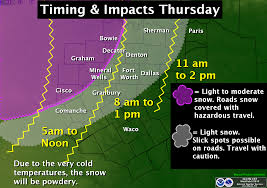 Weather Map Dallas by Snow Forecast For Thursday In North Texas Cbs Dallas Fort Worth