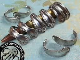 make silver bracelet images Curved spoon handle bracelet parts matched pairs antique jpg