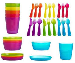 plastic cutlery ikea kalas baby kids plastic cutlery cups plates bowls mugs