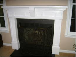 pleasing cream fireplace mantel design inspiration with black and