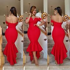 simple off the shoulder red prom dress 2017 mermaid hi lo