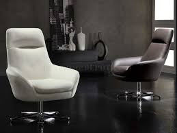 Black Leather Swivel Chairs White Full Italian Leather Modern Swivel Chair