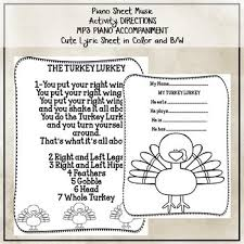 activity song the turkey lurkey actions and literacy activities