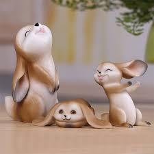 resin rabbit ornaments creative tale illustrator