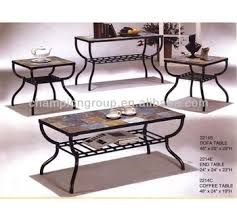 tile top coffee table mx 2214 living room coffee table set with metal frame and tile top