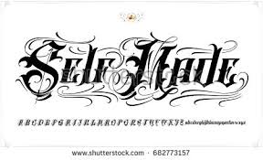 old english tattoo lettering stock vector 682773118 shutterstock