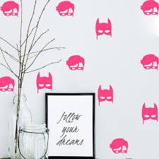 online get cheap wall sticker baby batman aliexpress com hwhd os1563 6pcs set robin batman wall sticker baby nursery wall decal removable easy wall