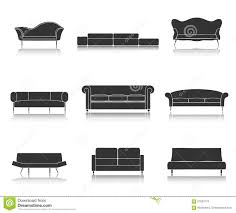 Furniture Set For Living Room by Modern Luxury Sofas And Couches Furniture Icons Set For Living