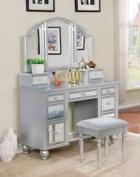 Vanity Set Furniture Furniture Of America Tracy Silver Vanity Set Cm Dk6162sv Savvy