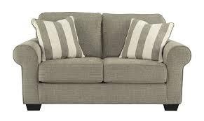 Upholstered Loveseat Chairs Ashley 4760035 Baveria Traditional Fog Grey Fabric Upholstery Loveseat