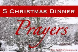 5 dinner prayers faithful provisions