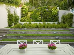 walled garden design landscape contemporary with living wall
