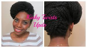 hairstyles for nappy twist for boys 73 kinky twists updo natura hair style youtube