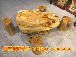 Stump Chair Root Carving Tea Table Set 100 Authentic Cliff Wooden Pond Wood