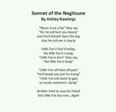 Poem On Halloween Nogitsune Poem Discovered By Veritas On We Heart It