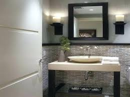 bathroom powder room ideas bathroom powder room ideas with wallpaper mirror image modern