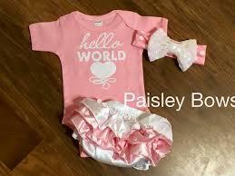 newborn bows hello world newborn paisley bows