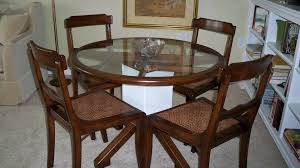 Bases For Glass Dining Room Tables Round Glass Dining Table With Wooden Base