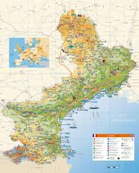 map of perpignan region large languedoc roussillon maps for free and print high