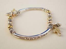 faith bracelets christian faith inspirational bracelet cross charm