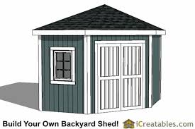 5 sided corner shed plans