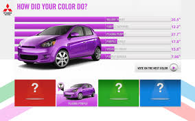 mitsubishi purple vote on 2014 mitsubishi mirage colors with fun new site