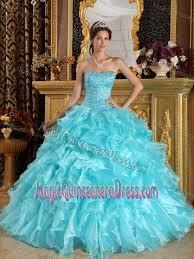 aqua blue quinceanera dresses blue organza quinceanera dresses ruffled in hamburg germany