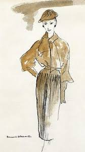 1954 55 christian dior h line sketch draw me a picture