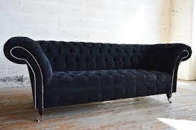 Chesterfield Black Sofa Black Chesterfield Sofas Ebay