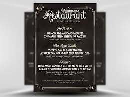 menu flyer template free chalk board menu psd flyer template