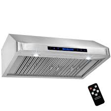 36 Range Hood Under Cabinet Akdy 36 In Under Cabinet Range Hood In Stainless Steel With Touch