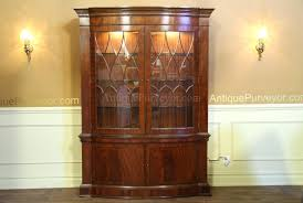 Antique Brass Display Cabinet Curio Cabinet Antique French Style Mahogany Curved Curio Cabinet