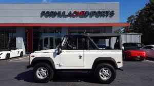 land rover defender convertible 1997 land rover defender 90 soft top for sale formula one