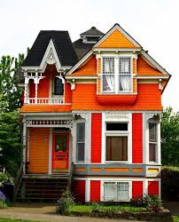 orange houses exterior house colors orange victorian and