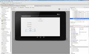 java does android studio layout editor shows custom view