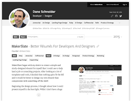 A Better Resume Makerslate A Better Résumé For Developers And Designers