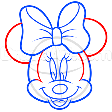 how to draw minnie mouse easy step by step disney characters