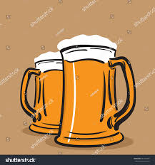 beer vector two mugs beer vector stock vector 487375495 shutterstock