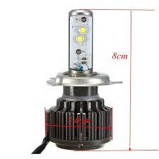 pair 80w turbo led headlight bulbs 7800lm h4 hi lo super bright