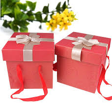 corrugated paper large square gift boxes with lids supplier china