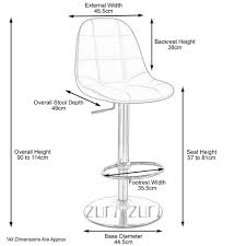 typical kitchen island dimensions home design captivating bar stool measurements for height