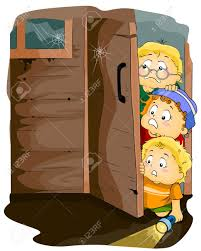 haunted house clipart free illustration featuring kids entering a haunted house stock photo